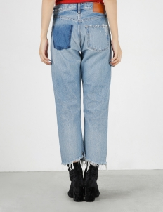 Blue MV Odessa Cropped Straight Pants