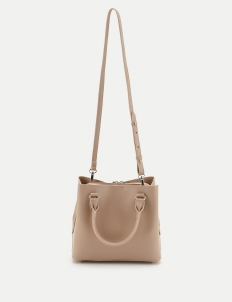 Beige Structuring Tote Bag