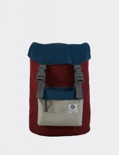 Maroon Blue & Light Gray Hook Backpack