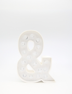 "Marquee Love Letters ""&""  10-inch"