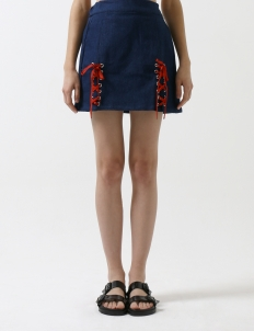 Blue Laced Skirt