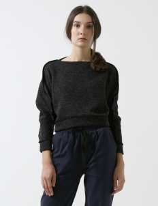 Dark Gray Cropped Sweater