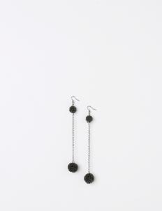 Gray Histeria Chain Earrings