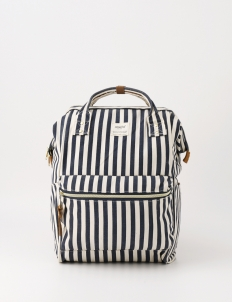 Stripe Navy Oxford Backpack