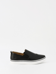 Black Kiera Slip On Sneakers