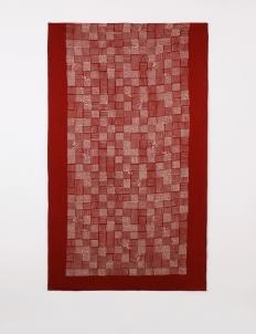 Red Perahu Sawah Shawl
