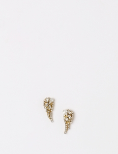 Gold Tiny Wing Earrings