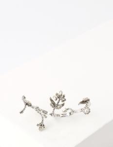 White Rodium Branch Ring