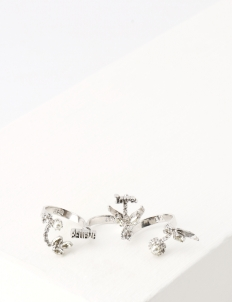 White Rodium Believe and Love Ring