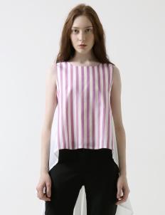 Stripes Lavender Kiara Top