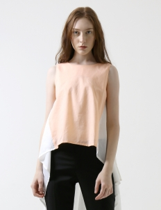 Peach & White Kiara Top