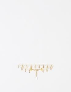White Gold Leaflet Choker