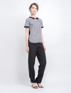 Black Reverse Gingham Shirt