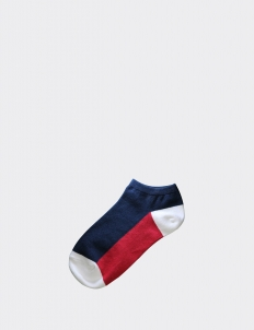 Navy/Red Tricolore Low Socks