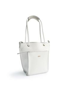 White Gray 2Loev Python Mini Bag