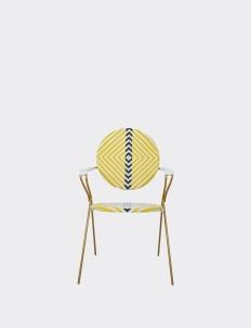 White & Yellow Borneo Bistro Chair