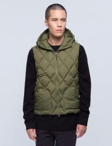 Zip Up Quilt Hood Vest