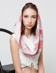 White Pink Headwrap