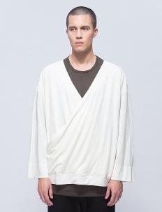 Oriental Neck Long Sleeve Cutsewn