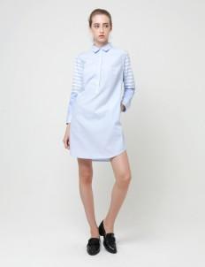 White & Green Lauren Shirt Dress