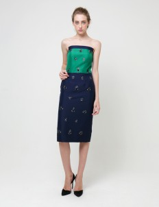Green Navy Peacock Cocktail Dress