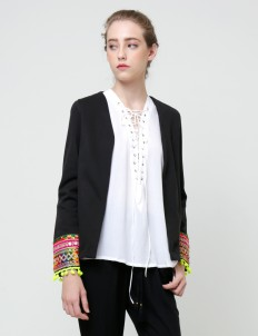 Black Marigold Gypsy Blazer