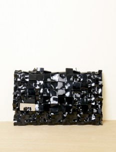 Black Alligator Clutch Large