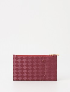 Wine Classic Zipper Card Wallet
