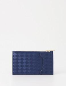 Royal Blue Classic Zipper Card Wallet