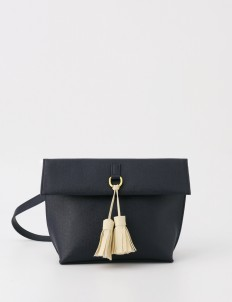 Läder Clutch in Deep Sea