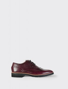 Burgundy Wingtip Shoes