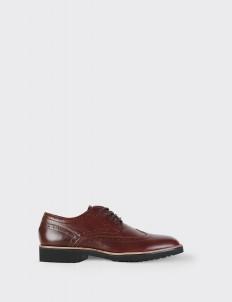 Cognac Wingtip Shoes