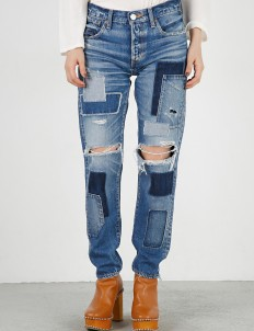 Blue MV Fontana Patched Tapered