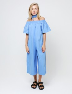 Blue Olympia Long Jumpsuit
