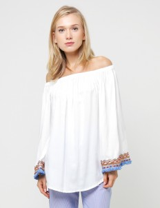 White Syeira Off Shoulder Top
