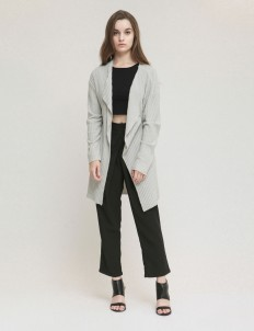 Gray Orion Knit Cardigan