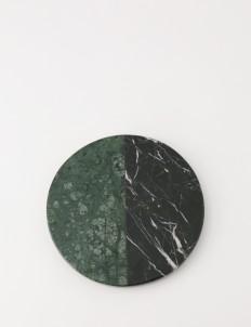 Emerald Black Zircon Round Marble