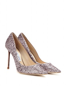 Tea Rose Romy Glitter Pumps