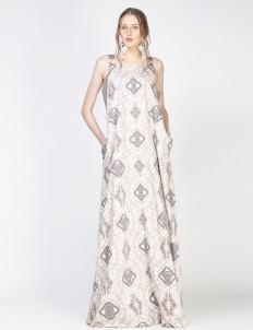 Brown Swastia Dress