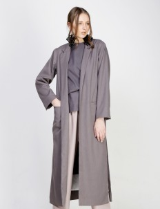 Gray Madewi Long Blazer