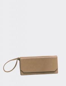 Taupe Travel Wallet