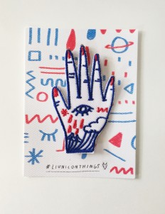 Blue & Red Hands On Patch