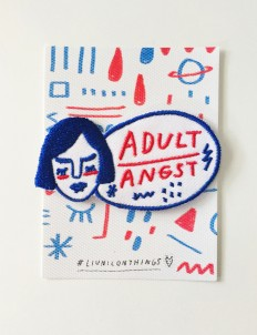 Blue & Red Adult Angst Patch