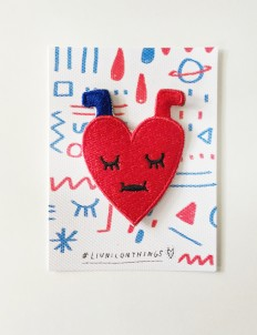 Blue & Red Love Patch