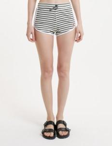 Gray Striped Shorts