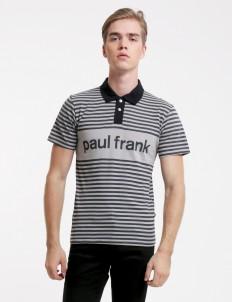 Black Stripe Rugby Polo Shirt