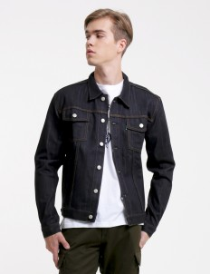 Dark Blue Skunk Jacket