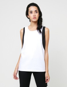 White Madison Ave Top
