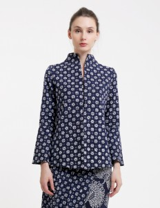 Blue Premium Sapphire Batik Blouse