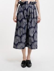 Navy Blue Premium Ruby Batik Cullotes